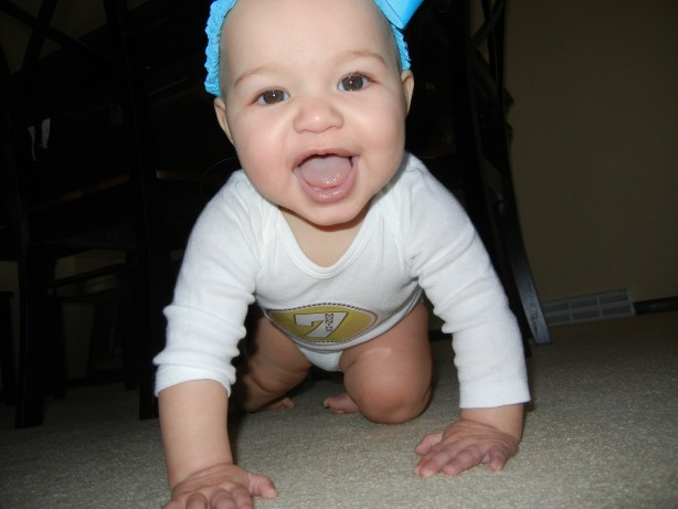 7 months old baby crawling