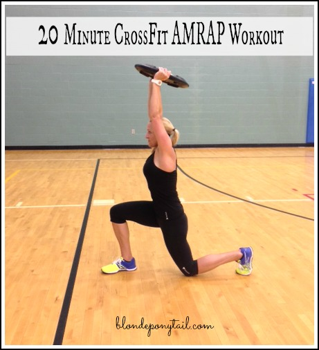 20 minute AMRAP CrossFit