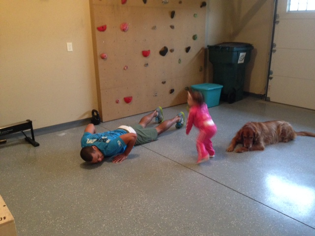 Toddler burpees Fit family