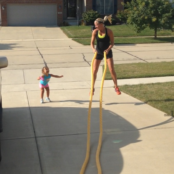 Battle Ropes with kids