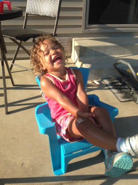 Toddler giggles
