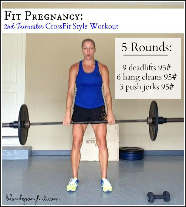 Kettlebell Exercises During Pregnancy: Second Trimester CrossFit Style Workout