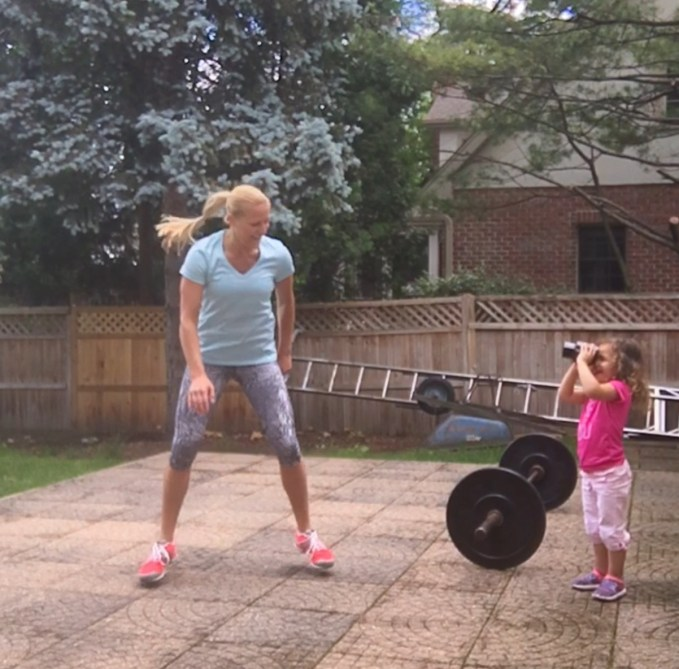 Mommy and me Squats