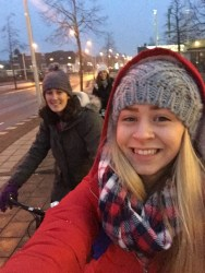 We were laughing so much at the situation we had to stop for a selfie at the traffic lights