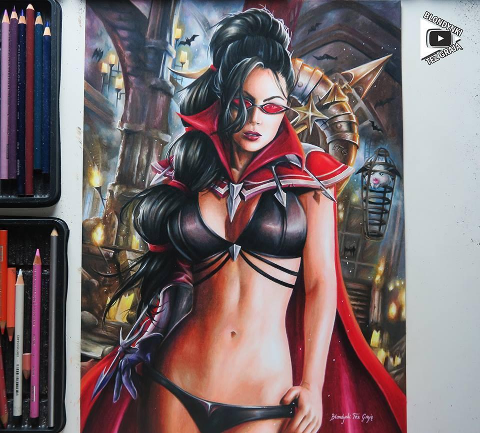 Vayne drawing by Blondynki Też Grają - League of Legends art