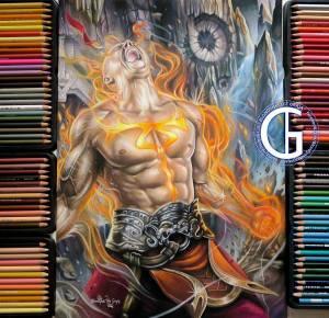 Lee Sin God Fist drawing by Blondynki Też Grają - League of Legends art
