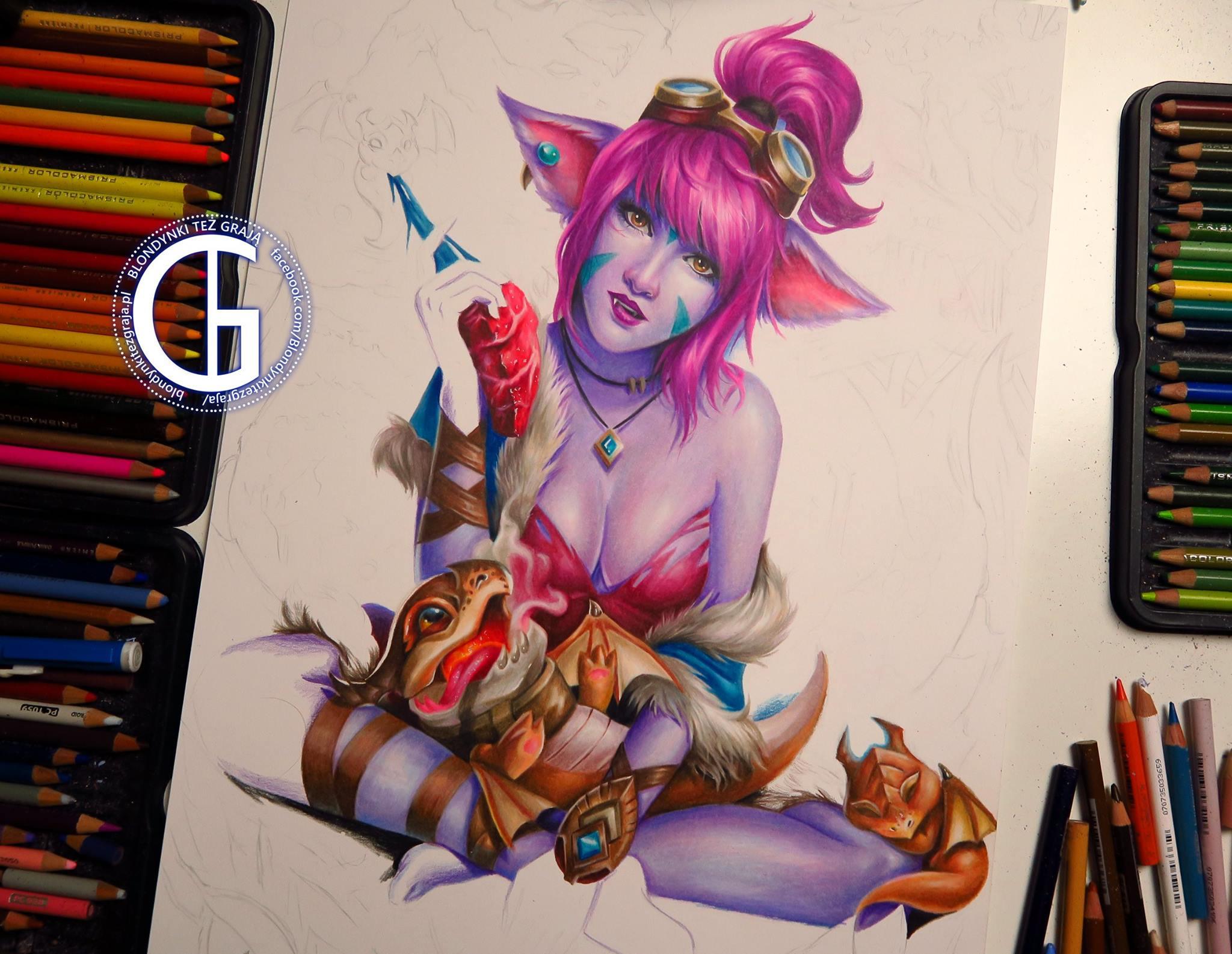 Tristana Dragon Trainer drawing by Blondynki Też Grają - League of Legends art
