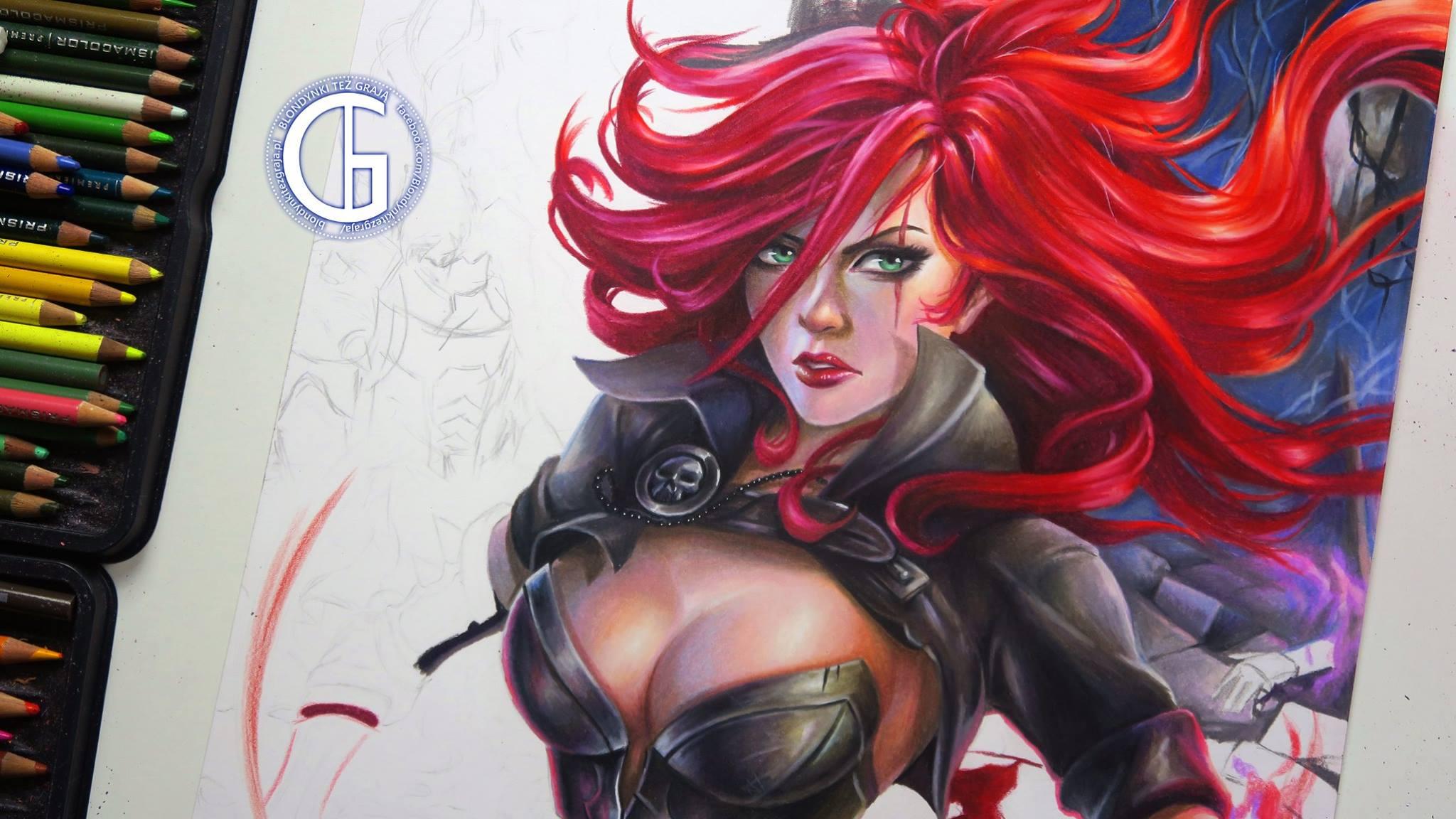 Katarina drawing WIP League of Legends