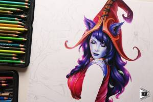 Lulu drawing by Blondynki Też Grają - League of Legends art