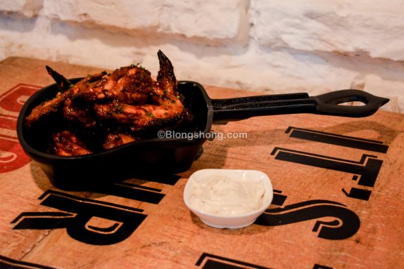 Grilled BFB Chicken wings in Ghost Sauce