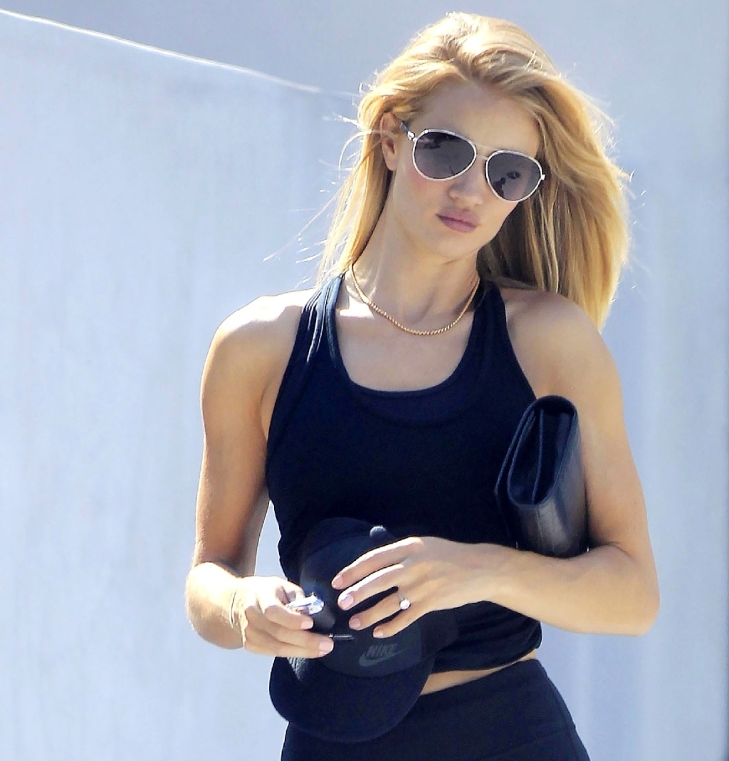 Rosie Huntington-Whiteley at the Gym in West Hollywood