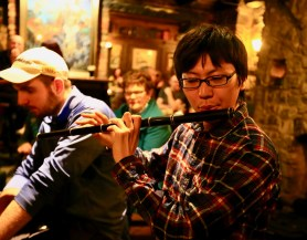 Satoshi on flute. Photo by Pat Keating..