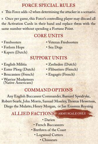english buccaneers rules
