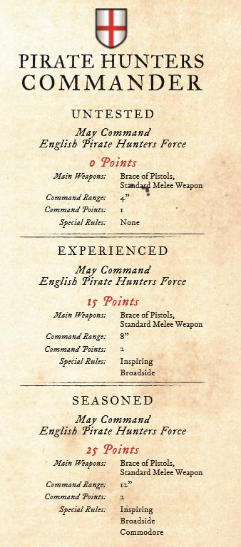 pirate hunter commanders