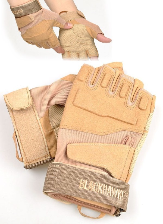 Tactical Gloves zonder vingers - Tan