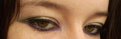 make up vert et violet
