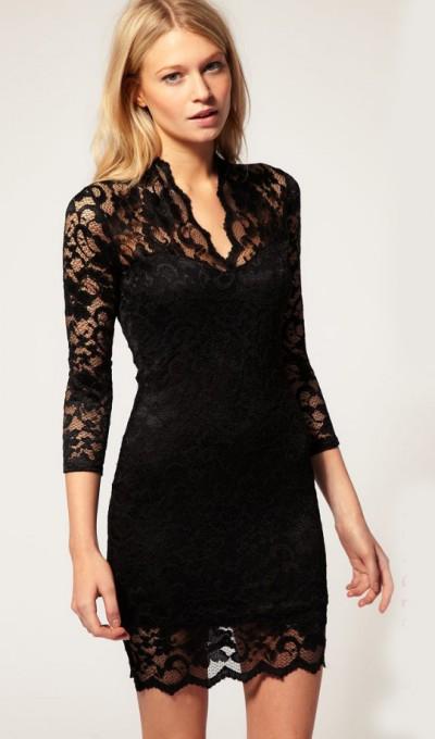robe noire sheinsde