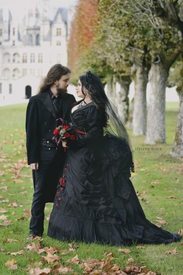 gothic wedding sandrine alexandre - 1