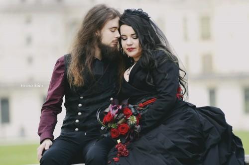 mariage gothique sandrine alexandre