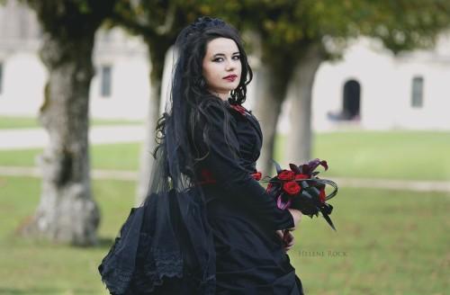 sandrine robe mariee gothique