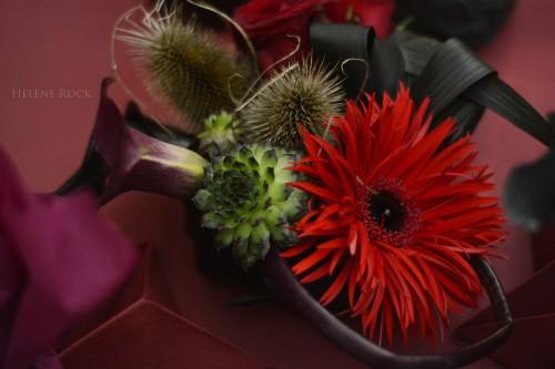 mariage gothique composition florale