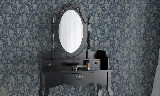 coiffeuse noire gothique roccoco baroque