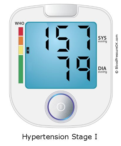 Blood Pressure 157 over 79 - what do these values mean?