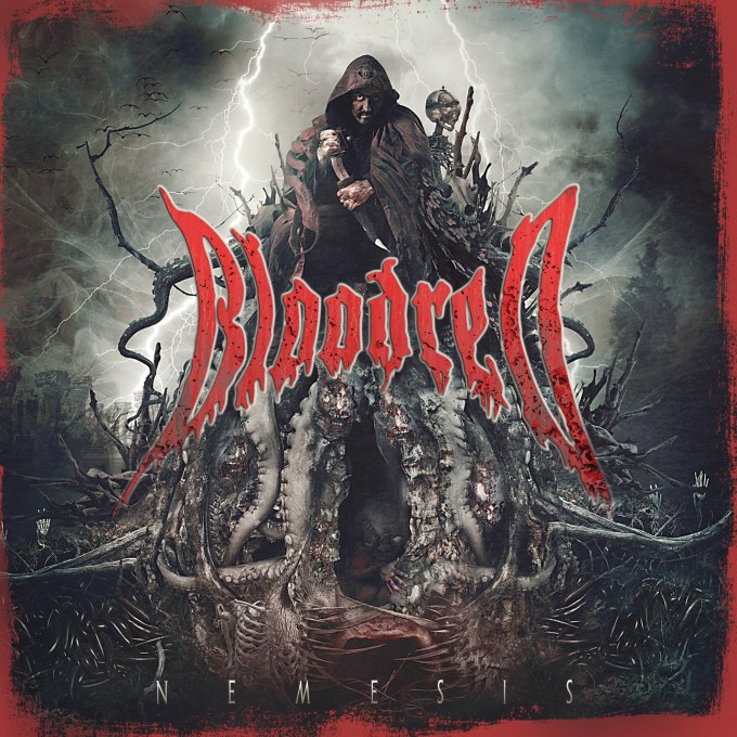 "The cover for the BLOODRED album ""NEMESIS"""