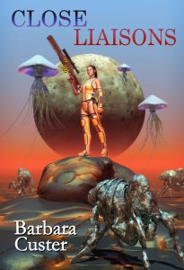 Close Liaisons features Mylar balloons and science fiction by Barbara Custer