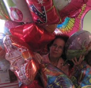 These lovely balloons came from the Giant.