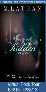 M. Lathan's Hidden features a paranormal thriller.