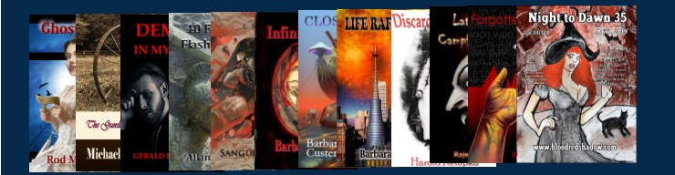featuring horror, SF, and other genres