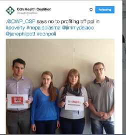 CanadaWithoutPovertySays#nopaidplasma