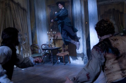 DF_24932 - Abraham Lincoln (Benjamin Walker) takes to the air during an epic battle against the undead.