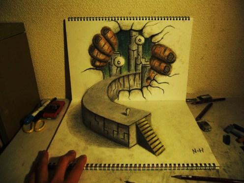 3D-Pencil-drawings-in-sketchbooks-nagai-hideyuki-12