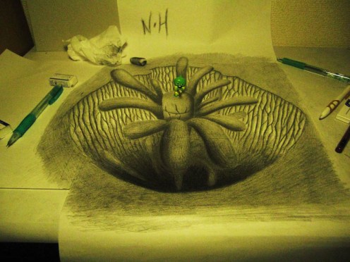 3D-Pencil-drawings-in-sketchbooks-nagai-hideyuki-13