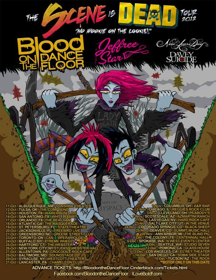Blood On The Dance Floor Announce N  American/UK 'The Scene
