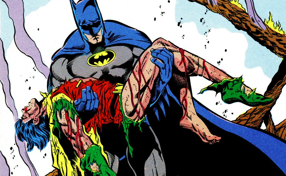 Jason Todd morto em arte de Jim Aparo. Daria uma capa impressionante e emotiva para Heroes in Crisis, não?