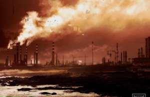 Oil refinery of Leça da Palmeira, near Oporto in Portugal.