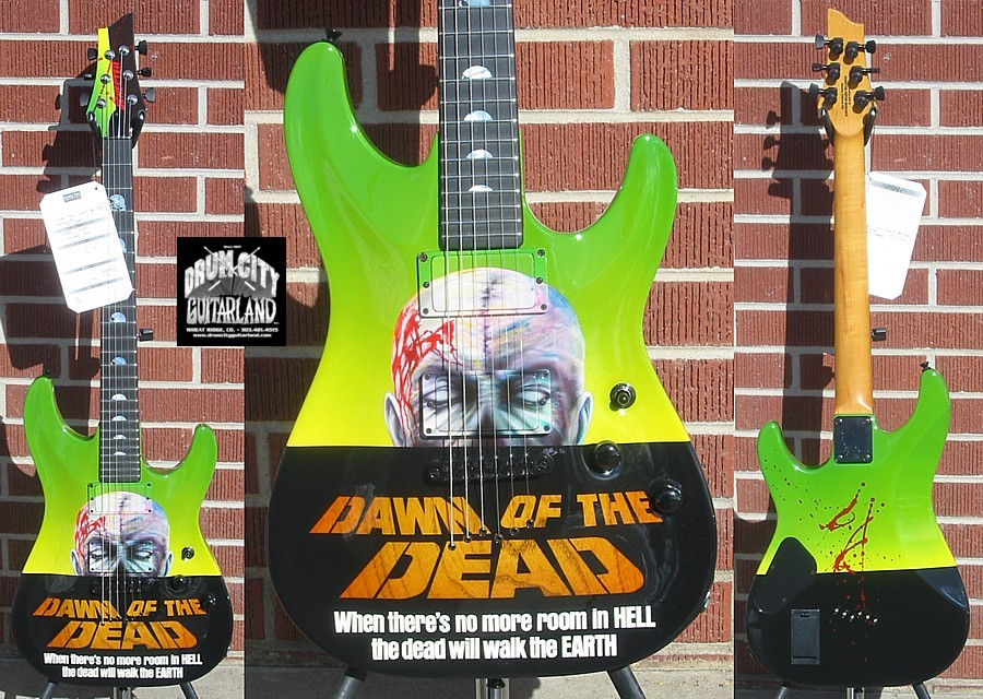 Schecter 2008 USA CUSTOM SHOP Sunset Classic Dawn Of The Dead Graphic NAMM SHOW 6-String Electric Guitar