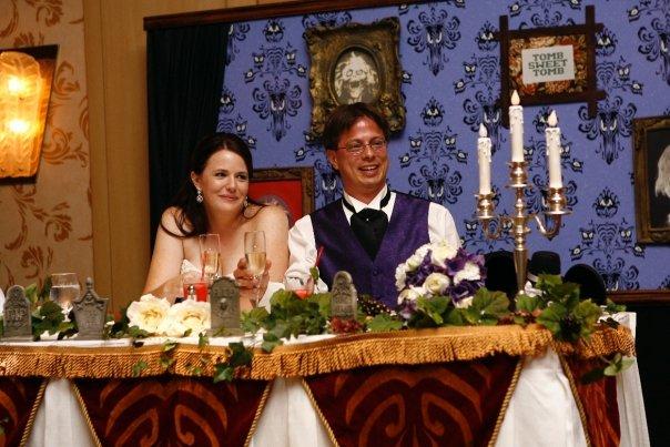 wedding table tombstones