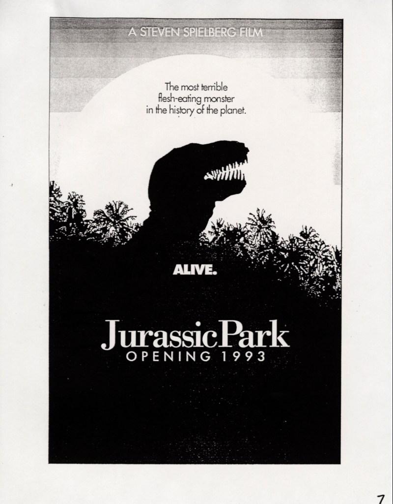 John Alvin – Jurassic Park poster – 11