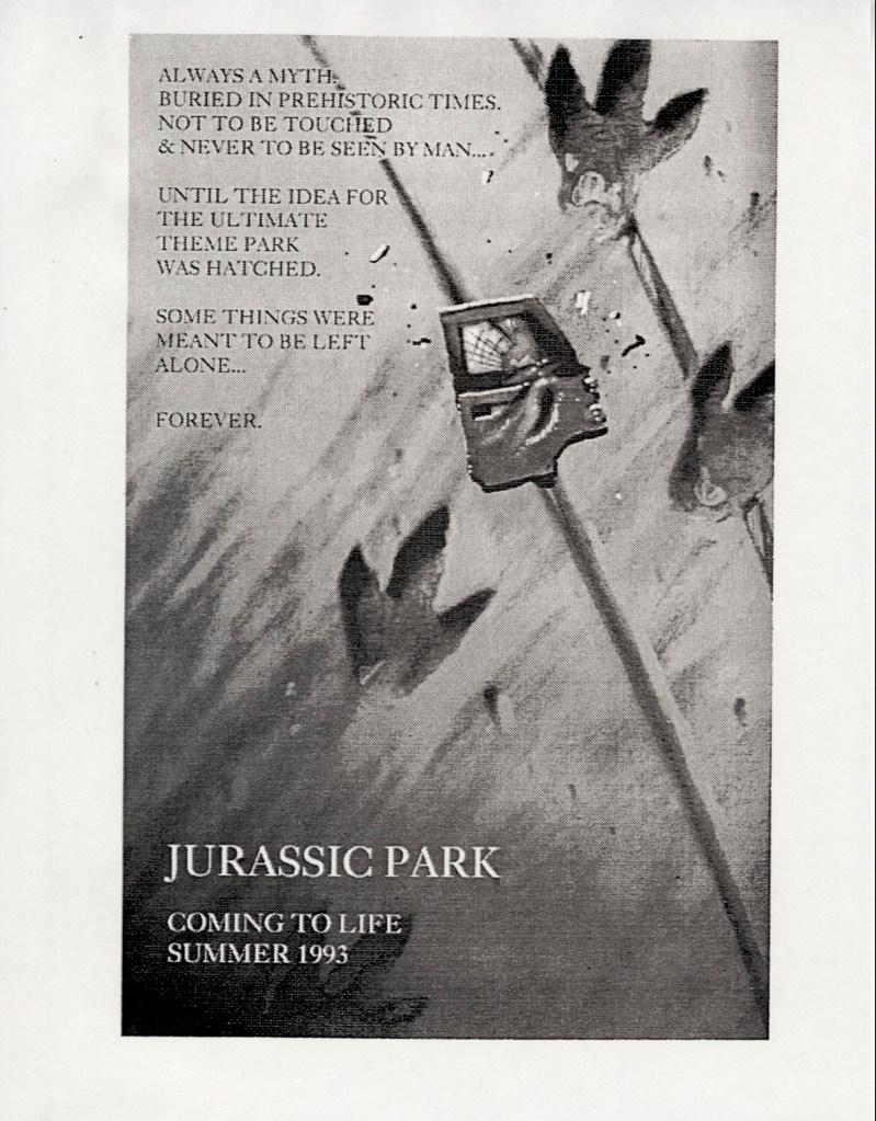 John Alvin – Jurassic Park poster – 3