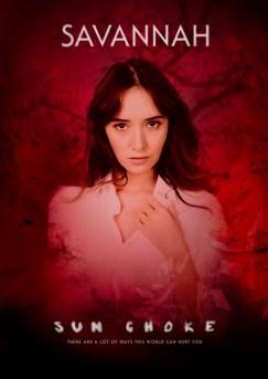 SUN CHOKE Character Poster - Savannah, Bloody Disgusting Exclusive