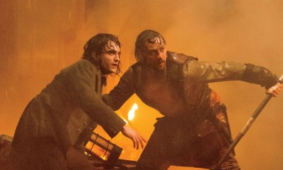 James McAvoy and Daniel Radcliffe in Victor Frankenstein, image via Alex Bailey