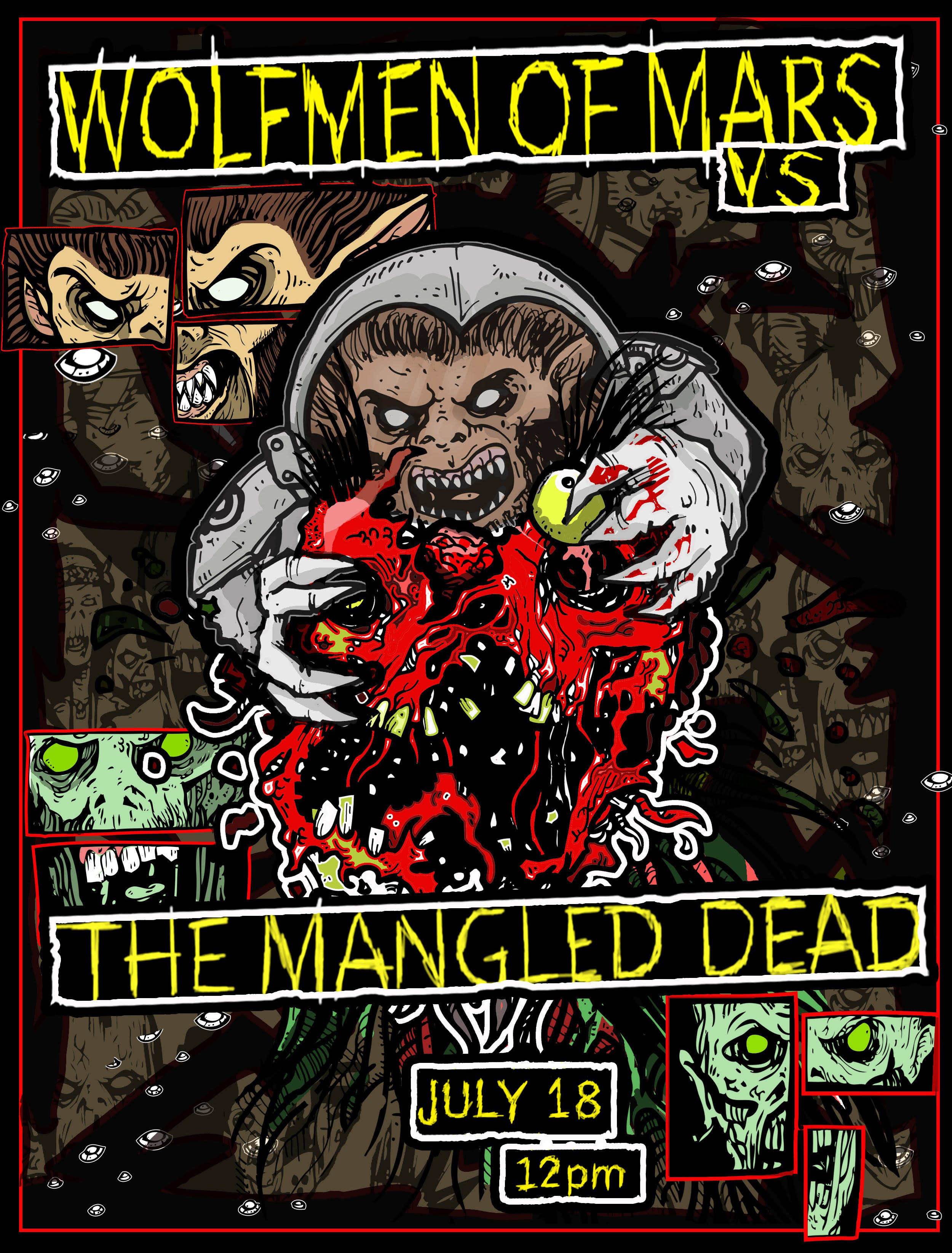 Wolfmen Of Mars Vs The Mangled Dead On Sale Right Now