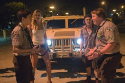 Left to right: Tye Sheridan plays Ben, Sarah Dumont plays Denise, Logan Miller plays Carter and Joey Morgan plays Augie in SCOUTS GUIDE TO THE ZOMBIE APOCALYPSE from Paramount Pictures.