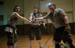 Left to right: Logan Miller plays Carter, Tye Sheridan plays Ben and Joey Morgan plays Augie in SCOUTS GUIDE TO THE ZOMBIE APOCALYPSE from Paramount Pictures.
