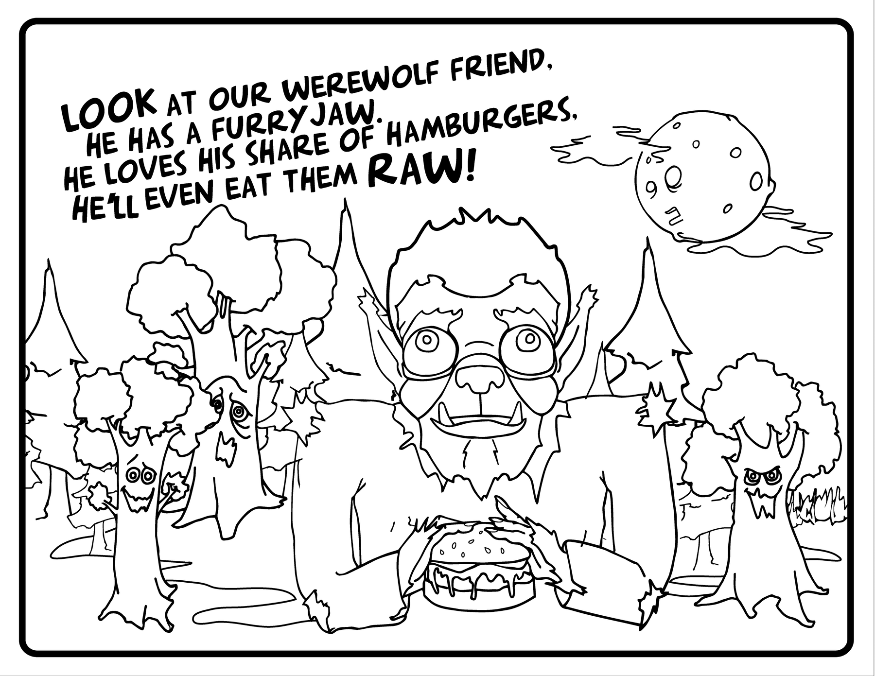 A Coloring Book with Rhymes, Dad Jokes and Monsters