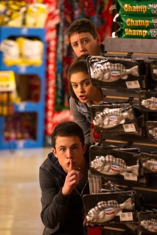 """Top to bottom, Ryan Lee, Odeya Rush and Dylan Minnette in Columbia Pictures' """"Goosebumps,"""" starring Jack Black."""